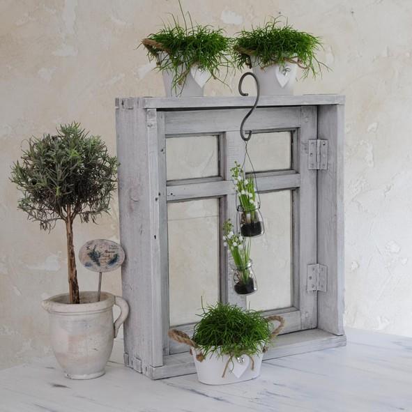 Fenster in Shabby chic für Blumenladen