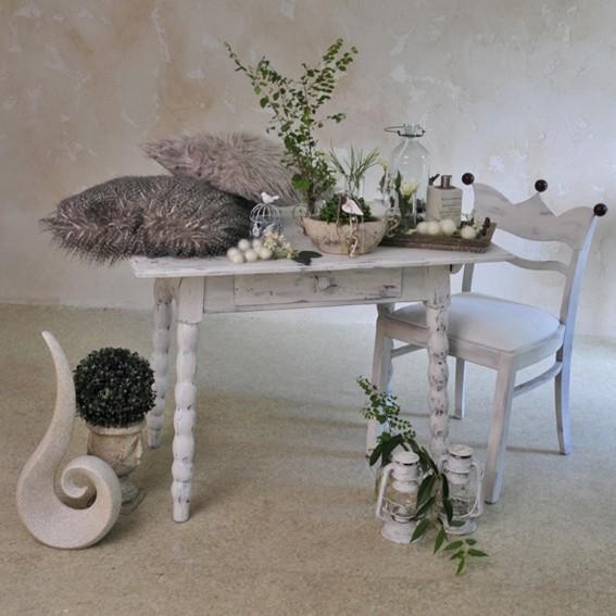 Antiker Tisch weiß Verkaufstisch Vintage für Ladeneinrichtung Landhausstil